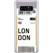 Силиконовый чехол BoxFace Samsung N950F Galaxy Note 8 Ticket London (35949-cc83)