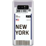 Силиконовый чехол BoxFace Samsung N950F Galaxy Note 8 Ticket New York (35949-cc84)