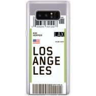 Силиконовый чехол BoxFace Samsung N950F Galaxy Note 8 Ticket Los Angeles (35949-cc85)