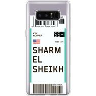 Силиконовый чехол BoxFace Samsung N950F Galaxy Note 8 Ticket Sharmel Sheikh (35949-cc90)