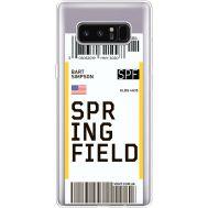 Силиконовый чехол BoxFace Samsung N950F Galaxy Note 8 Ticket Springfield (35949-cc93)