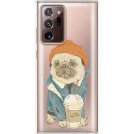 Силиконовый чехол BoxFace Samsung N985 Galaxy Note 20 Ultra Dog Coffeeman (40574-cc70)