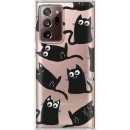 Силиконовый чехол BoxFace Samsung N985 Galaxy Note 20 Ultra с 3D-глазками Black Kitty (40574-cc73)