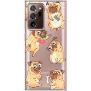 Силиконовый чехол BoxFace Samsung N985 Galaxy Note 20 Ultra с 3D-глазками Pug (40574-cc77)