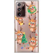 Силиконовый чехол BoxFace Samsung N985 Galaxy Note 20 Ultra с 3D-глазками Reindeer (40574-cc74)