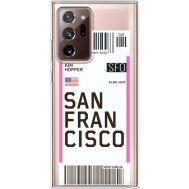 Силиконовый чехол BoxFace Samsung N985 Galaxy Note 20 Ultra Ticket San Francisco (40574-cc79)