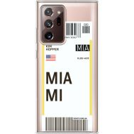 Силиконовый чехол BoxFace Samsung N985 Galaxy Note 20 Ultra Ticket Miami (40574-cc81)