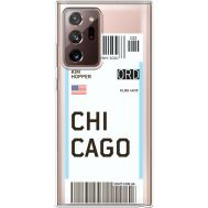 Силиконовый чехол BoxFace Samsung N985 Galaxy Note 20 Ultra Ticket Chicago (40574-cc82)