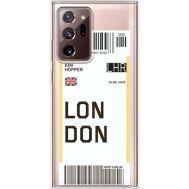 Силиконовый чехол BoxFace Samsung N985 Galaxy Note 20 Ultra Ticket London (40574-cc83)