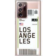 Силиконовый чехол BoxFace Samsung N985 Galaxy Note 20 Ultra Ticket Los Angeles (40574-cc85)
