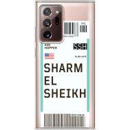 Силиконовый чехол BoxFace Samsung N985 Galaxy Note 20 Ultra Ticket Sharmel Sheikh (40574-cc90)