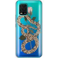 Силиконовый чехол BoxFace Xiaomi Mi 10 Lite Glamor Snake (39439-cc67)
