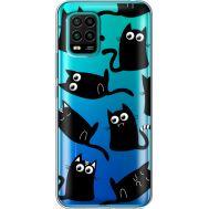 Силиконовый чехол BoxFace Xiaomi Mi 10 Lite с 3D-глазками Black Kitty (39439-cc73)