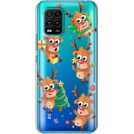 Силиконовый чехол BoxFace Xiaomi Mi 10 Lite с 3D-глазками Reindeer (39439-cc74)