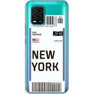 Силиконовый чехол BoxFace Xiaomi Mi 10 Lite Ticket New York (39439-cc84)