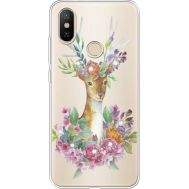 Силиконовый чехол BoxFace Xiaomi Mi 6X / A2 Deer with flowers (934982-rs5)