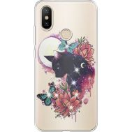 Силиконовый чехол BoxFace Xiaomi Mi 6X / A2 Cat in Flowers (934982-rs10)