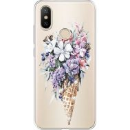 Силиконовый чехол BoxFace Xiaomi Mi 6X / A2 Ice Cream Flowers (934982-rs17)