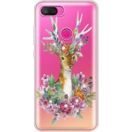 Силиконовый чехол BoxFace Xiaomi Mi 8 Lite Deer with flowers (935667-rs5)