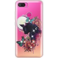 Силиконовый чехол BoxFace Xiaomi Mi 8 Lite Cat in Flowers (935667-rs10)