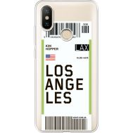 Силиконовый чехол BoxFace Xiaomi Mi 6X / A2 Ticket Los Angeles (34982-cc85)