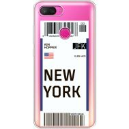 Силиконовый чехол BoxFace Xiaomi Mi 8 Lite Ticket New York (35667-cc84)