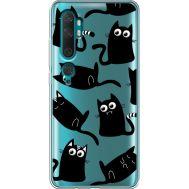 Силиконовый чехол BoxFace Xiaomi Mi Note 10 / Mi Note 10 Pro с 3D-глазками Black Kitty (38538-cc73)