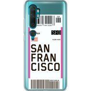 Силиконовый чехол BoxFace Xiaomi Mi Note 10 / Mi Note 10 Pro Ticket San Francisco (38538-cc79)