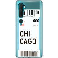 Силиконовый чехол BoxFace Xiaomi Mi Note 10 / Mi Note 10 Pro Ticket Chicago (38538-cc82)