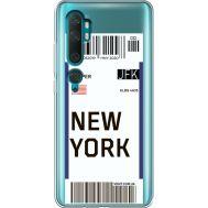 Силиконовый чехол BoxFace Xiaomi Mi Note 10 / Mi Note 10 Pro Ticket New York (38538-cc84)