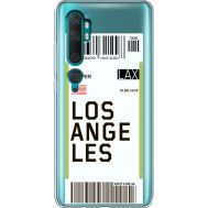 Силиконовый чехол BoxFace Xiaomi Mi Note 10 / Mi Note 10 Pro Ticket Los Angeles (38538-cc85)