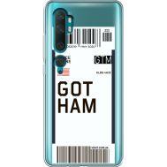 Силиконовый чехол BoxFace Xiaomi Mi Note 10 / Mi Note 10 Pro Ticket Gotham (38538-cc92)