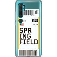 Силиконовый чехол BoxFace Xiaomi Mi Note 10 / Mi Note 10 Pro Ticket Springfield (38538-cc93)