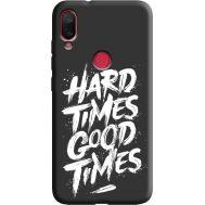 Силиконовый чехол BoxFace Xiaomi Mi Play hard times good times (38662-bk72)