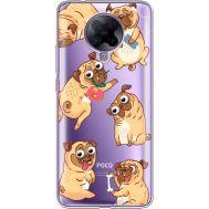 Силиконовый чехол BoxFace Xiaomi Poco F2 Pro с 3D-глазками Pug (40089-cc77)
