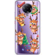 Силиконовый чехол BoxFace Xiaomi Poco F2 Pro с 3D-глазками Reindeer (40089-cc74)