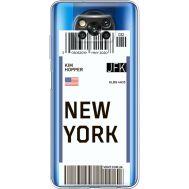Силиконовый чехол BoxFace Xiaomi Poco X3 Ticket New York (41290-cc84)