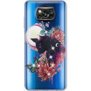 Силиконовый чехол BoxFace Xiaomi Poco X3 Cat in Flowers (941290-rs10)