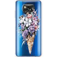Силиконовый чехол BoxFace Xiaomi Poco X3 Ice Cream Flowers (941290-rs17)