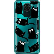 Силиконовый чехол BoxFace Xiaomi Redmi 10X с 3D-глазками Black Kitty (40367-cc73)