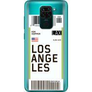Силиконовый чехол BoxFace Xiaomi Redmi 10X Ticket Los Angeles (40367-cc85)