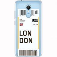 Силиконовый чехол BoxFace Xiaomi Redmi 5 Ticket London (35031-cc83)