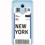 Силиконовый чехол BoxFace Xiaomi Redmi 5 Ticket New York (35031-cc84)
