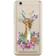 Силиконовый чехол BoxFace Xiaomi Redmi 5A Deer with flowers (935028-rs5)