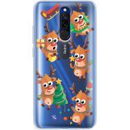 Силиконовый чехол BoxFace Xiaomi Redmi 8 с 3D-глазками Reindeer (38412-cc74)