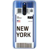 Силиконовый чехол BoxFace Xiaomi Redmi 8 Ticket New York (38412-cc84)