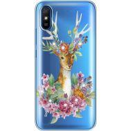 Силиконовый чехол BoxFace Xiaomi Redmi 9A Deer with flowers (940305-rs5)