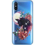Силиконовый чехол BoxFace Xiaomi Redmi 9A Cat in Flowers (940305-rs10)
