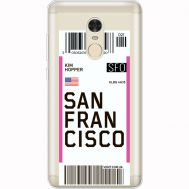 Силиконовый чехол BoxFace Xiaomi Redmi Note 4x Ticket San Francisco (35032-cc79)