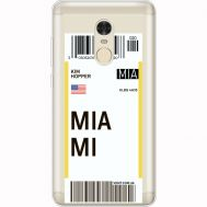 Силиконовый чехол BoxFace Xiaomi Redmi Note 4x Ticket Miami (35032-cc81)